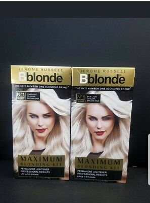 2x Jerome Russell Bblonde MAXIMUM BLONDING KIT BLONDE 2 FOR 14.95.