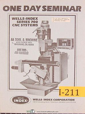Wells Index Series 700 Cnc Systems Seminar Manual