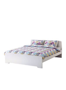 IKEA double bed with mattress and two pillows! Lane Cove West Lane Cove Area Preview