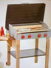 Wooden Toy 85cm Barbeque with 2 Steaks, 2 Fish, Tongs & Condiment North Sydney North Sydney Area Preview