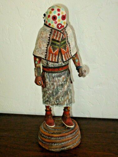 "Hopi Kachina by Delano NUVAYESTEWA, Hand Carved, 11 1/2"" Tall, 1999"