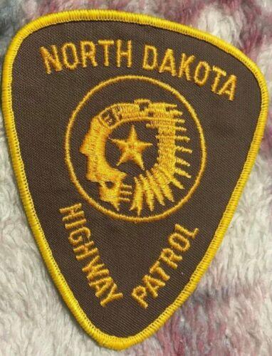 """vintage """"NORTH DAKOTA HIGHWAY PATROL"""" PATCH nd LAW ENFORCEMENT OFFICER police"""