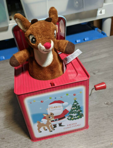 Kids Preferred Rudolph the Red-Nosed Reindeer Jack-In-The-Box Plays Rudolph Song