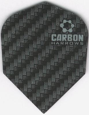 Silver   Grey Carbon Dart Flights  3 Per Set