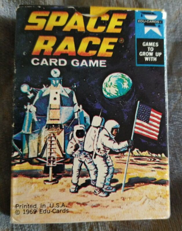 Space Race Card Game Vintage 1969 SpaceX NASA Cold War Human Space Flight