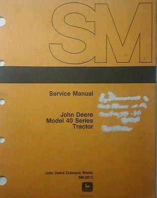 John Deere 40 Tractor Crawler Hi-crop Utility Master Shop Service Manual Sm-2013
