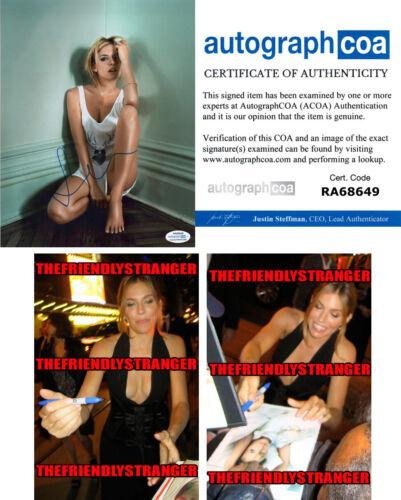 SIENNA MILLER signed Autographed 8X10 PHOTO D - PROOF - SEXY 21 Bridges ACOA COA