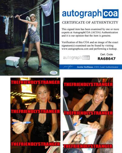 SIENNA MILLER signed Autographed 8X10 PHOTO A - PROOF - SEXY 21 Bridges ACOA COA