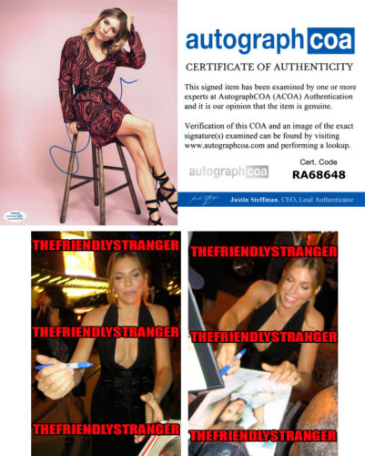 SIENNA MILLER signed Autographed 8X10 PHOTO C - PROOF - SEXY 21 Bridges ACOA COA