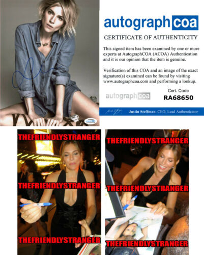 SIENNA MILLER signed Autographed 8X10 PHOTO E - PROOF - SEXY 21 Bridges ACOA COA