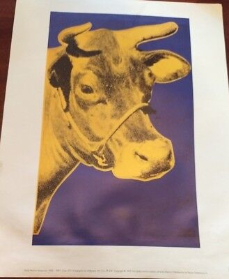 """ANDY WARHOL  LITHOGRAPH PRINT """"The COW """" 1984"""