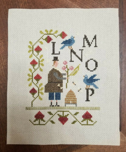 finished cross stitch sampler alphabet with thy needle and thread schoolhouse 2