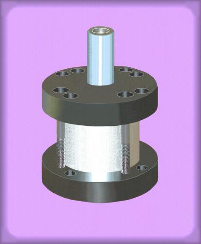 "Speedaire 2A710 air cylinder 1-1/2"" bore 1"""" stroke 2-5/8 diameter fem thd shaft"