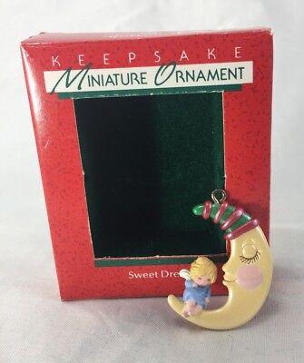 """Hallmark Miniature ORNAMENT """"SWEET DREAMS"""" 1988 W/BOX&TAG"""