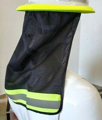 2 Pc. Fx Safety Hard Hat Neck Shield Helmet Sun Shade Hi Vis Reflective Stripe