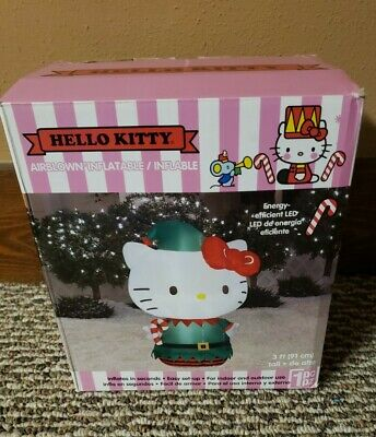 NEW NOS Hello Kitty Christmas Inflatable Airblown Gemmy Outdoor Decor 3 Feet LED