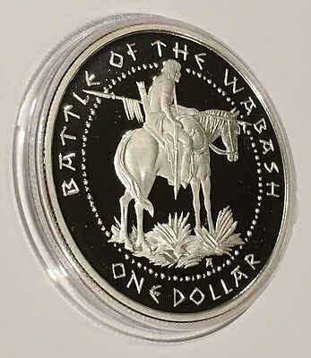 2007 Sovereign Nation Shawnee Tribe Battle Of Wabash 1 Troy Oz  999 Fine Silver