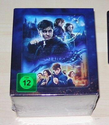 Wizarding World 9 Film Collection Harry Potter + Tierwesen Steelbook Blu Ray New