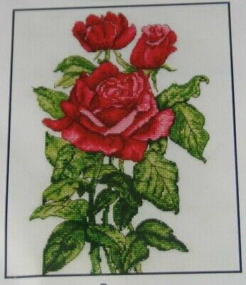 """New DMC  Counted Cross Stitch Kit  """"R0SES"""""""