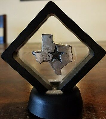 2 oz .999 Silver hand poured Texas lone star only 500 made Dallas Cowboys Framed