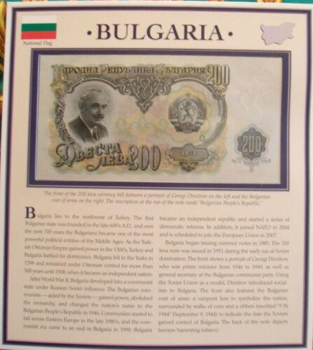 PCS Historic Currency  Bulgaria 200 Leva 1951 P-87 UNC