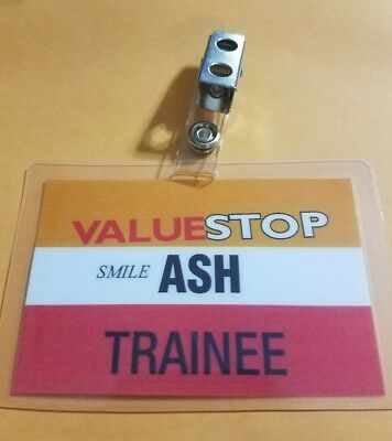 Ash vs Evil Dead ID Badge Valuestop Trainee Ash cosplay costume Army - Evil Ash Costume