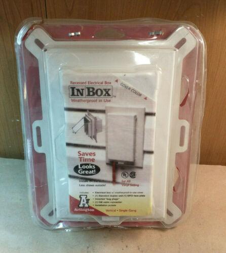 InBox Weatherproof IN use box Vertical Mount for New Vinyl Siding DBVS1W 1 Gang