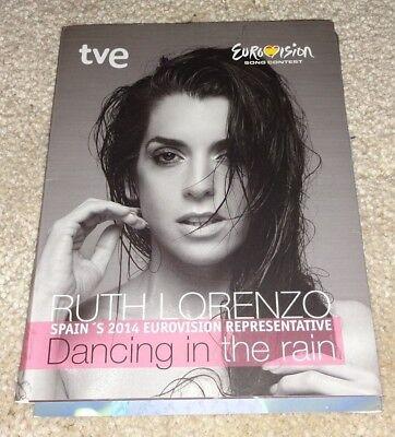 Eurovision 2014 Spain Ruth Lorenzo Dancing in the Rain promo presskit CD SIGNED