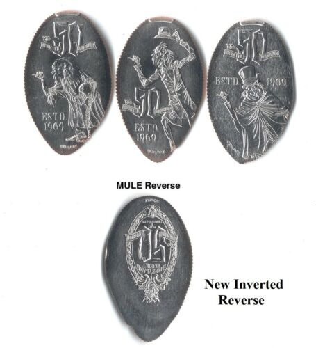 *Quarters* Disneyland - Haunted Mansion 50th New Reverse (3) Made with unc coins