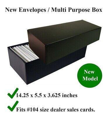 Storage Box for #4 / # 4.5 Glassine Stamp Envelopes #104 Size Dealer Sales Card