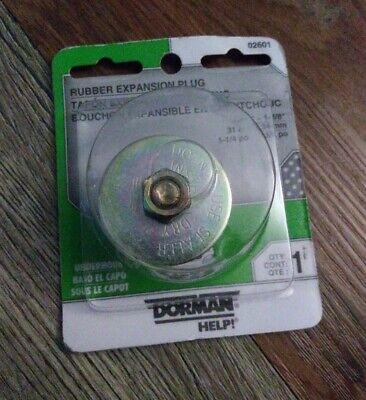 """Dorman AutoGrade Rubber Expansion Plug 1-1/4"""", Size Range 1-1/4"""" - 1-3/8"""" 02601"""