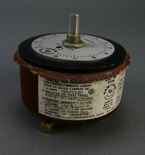 Ohmite Ohmitran Model VT1N 0-120v 1.54 Amp Variable Autotransformer Transformer