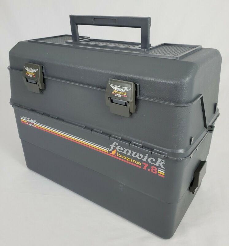 Vintage Fenwick Fishing Tackle Box Kangaroo 7.8 Gray