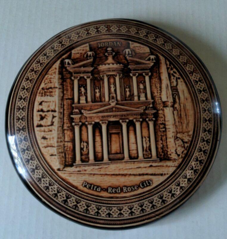Red Rose City Petra Jordan Round Plaque