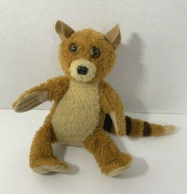 Felpuches plush brown lemur small ring tailed brown tan striped tail stuffed - Brown Lemur