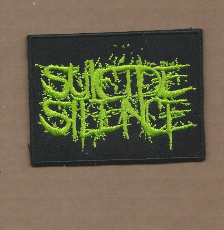 NEW 2 1/4 X 3 INCH SUICIDE SILENCE IRON ON PATCH FREE SHIPPING