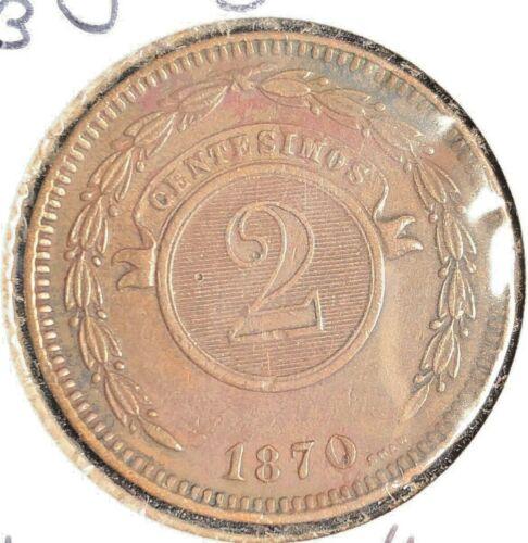Paraguay 1870 2 Centesimos KM 3