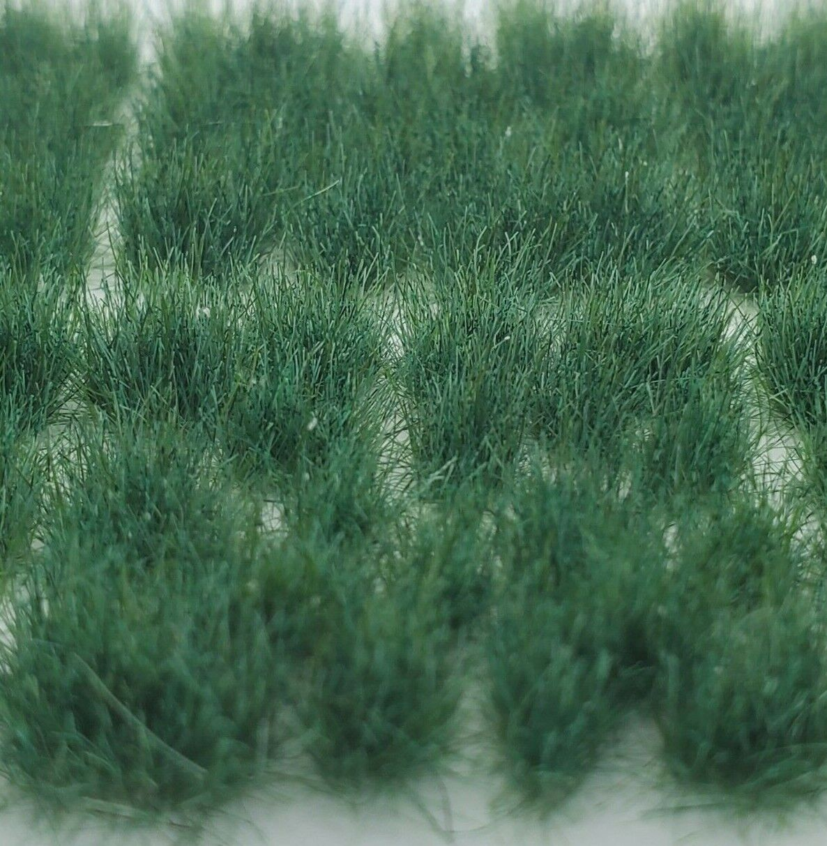 Self Adhesive Static Grass Tufts for Miniature Scenery -Plain Green- 8mm