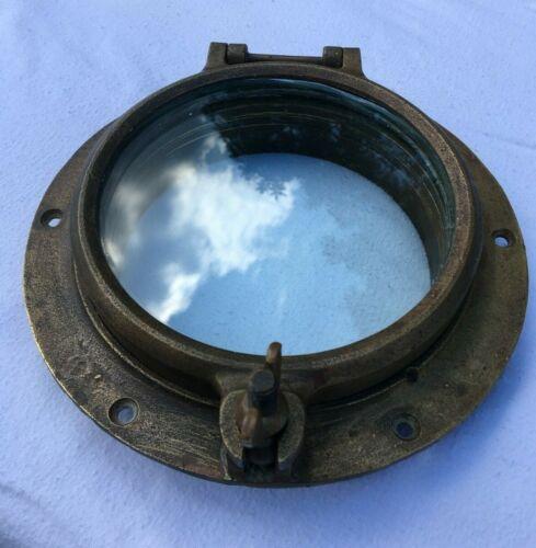Vintage Authentic Bronze Nautical Porthole Wilcox Crittenden No. 6 Nautical Port