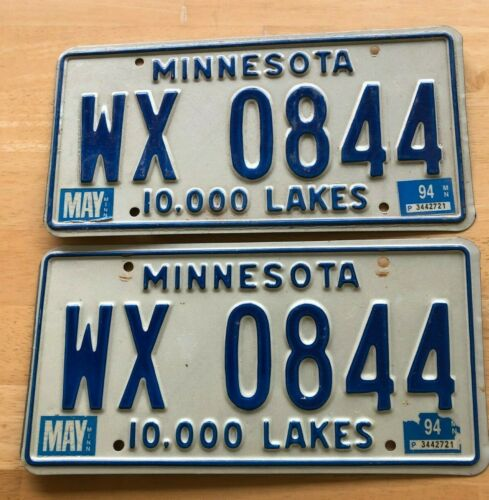Pair of 1994 Minnesota License Plates