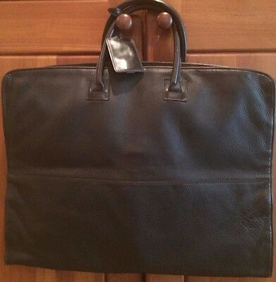 GIORGIO ARMANI SOFT DEERSKIN LEATHER TRI FOLD GARMENT BAG 75% OFF RETAIL