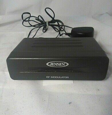Jensen RF Modulator Audio/Video Converter Recoton Model DVD647 With Adapter Rf Modulator-audio