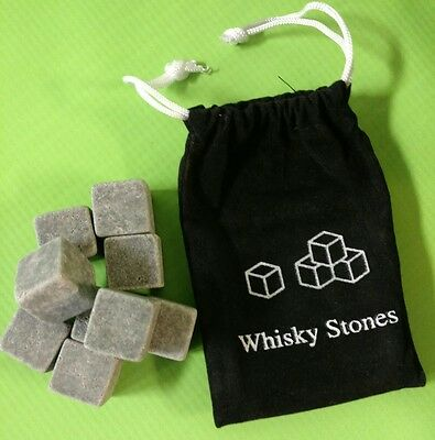 9PCs BOURBON & Whiskey Stones / Scotch Rocks / Chill Cubes Ships From KENTUCKY!