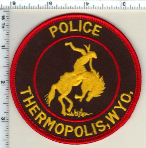 Thermopolis Police (Wyoming) 2nd Issue Shoulder Patch from 1989