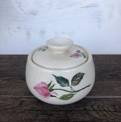 Homer Laughlin Cunningham Pickett DUBARRY Sugar Bowl With Lid Hand Decorated
