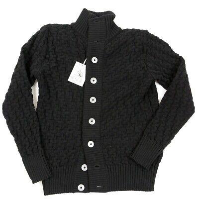 NEW SNS HERNING STARK Cardigan Black Size SMALL