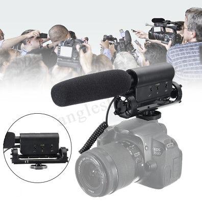Pro Video Photography Interview Shotgun Microphone For Nikon Canon DSLR Camera