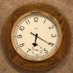 Howard Miller Magnifique Oversize Wall Clock 622-869 Large Oak Round