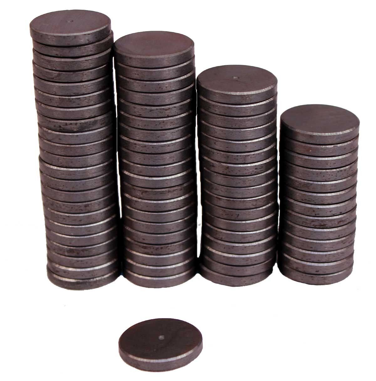 Strong 1″ Round Flat Ceramic Disc Magnets For DIY Crafts ~ Lot of 50 Pieces All-Purpose Craft Supplies