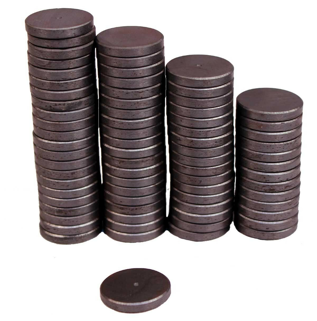 Strong 1 Inch Round Flat Ceramic Disc Magnets For DIY Crafts ~ Lot of 25 Pieces All-Purpose Craft Supplies